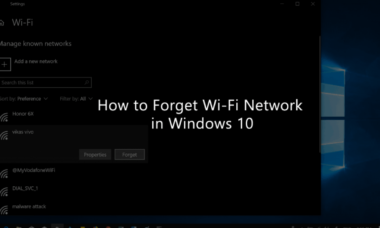 How To Forget Network On Windows 10