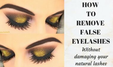 How to remove Flase lashes