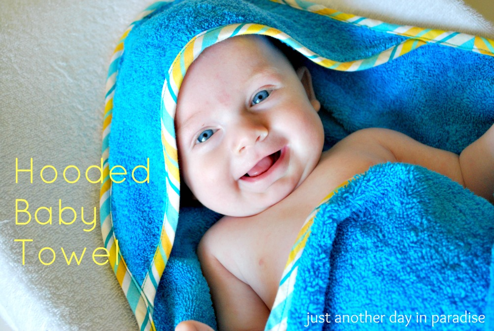 how to make a hooded baby towel